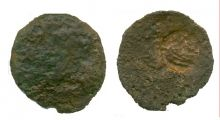 Монета обол, Боспор, Пантикапей, 200-190 г.. до н.э., медь,  D-24 мм