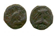 Монета статер, Боспор, Пантикапей, 317-316 гг. до н.э., медь, D-19 мм