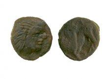 Монета дихалк, Боспор, Пантикапей, 314-310 гг. до н.э., медь, D-14 мм