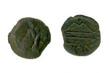 Монета обол. Боспор, Пантикапей, 275-245 гг. до н.э., медь, D-17 мм