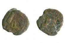 Монета дихалк, Херсонес, 300-290 гг. до н.э., медь, D-16 мм