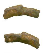 Монета «дельфин», Ольвия, 438-410 гг. до н.э., бронза, 17х5 мм